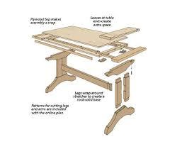 trestle table plans