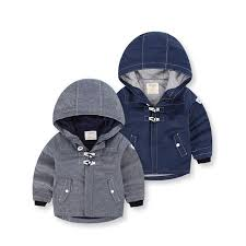 Boys Autumn Jackets Loog Sleeve Hooded Coat Kids Softshell Jacket Winter Outerwear Toddler Boy blazer