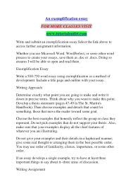 Example Of An Exemplification Essay An Exemplification Essay Tutorialoutlet Dot Com An Exemplification