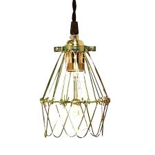 wire cage pendant light cage pendant light minimalist polished brass with wire nostalgic style era bulb