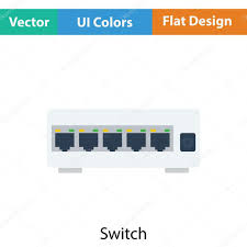 Ethernet Switch Design Ethernet Switch Icon Stock Vector Angelp 115604618