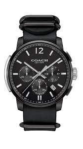 coach s new and affordable watches will change your life coach men s ion plated black dial strap watch
