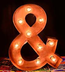 Nashville Sign Decor Metal Ampersand Marquee Sign Home Decor Lighting Top Line 38