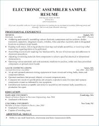 Assembly Line Worker Resume Igniteresumes Com