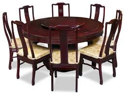 60 rosewood longevity design round dining table with 8 chairs
