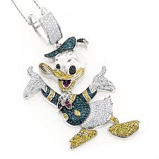 custom diamond chains awesome fancy diamond pendants 10k donald duck pendant 408ct