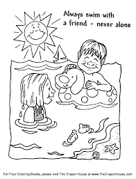 Small Picture Summer Safety Coloring Book Coloring Pages