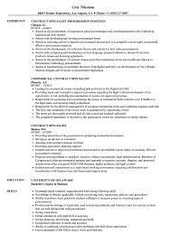 Sample Contract Specialist Resume Contract Specialist Resume Samples Velvet Jobs 8
