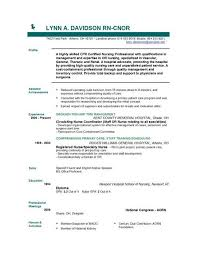 Resume Template For Rn Best Resume For Nurses Free Sample Yelommyphonecompanyco