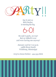 Invitation Ideas Free 60th Birthday Invitations Templates