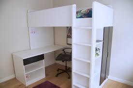 ikea cabin bed including built in desk and wardrobe white black