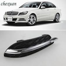 2013 Mercedes C250 Daytime Running Lights Us 170 4 20 Off Cscsnl 1pair Led Drl Daytime Running Lights Fog Head Lamp Cover For Mercedes Benz W204 C200 C260 C300 C Class 2011 2012 2013 In Car