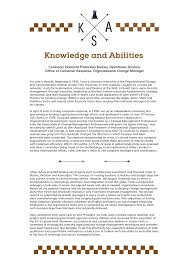 Skills And Abilities For Resume Knowledge Skills And Abilities Example 23
