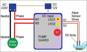 water pump dry run guard full project with source code water pump connection diagram electrical wiring diagram