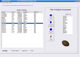 Football Depth Chart Creator Football Assistant Free Team Roster Software