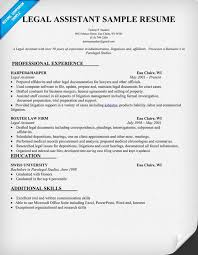 Objective For Legal Assistant Resume SAMPLE LEGAL ASSISTANT RESUME TGAM COVER LETTER 14