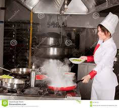Chef Kitchen Female Chef In Kitchen Stock Photography Image 25735132