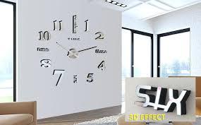 wall mirrors 3d wall mirror clock modern og mirror surface large number wall clock sticker