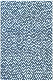 dash and albert diamond denim white indoor outdoor rug