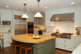 white country kitchen with butcher block. White Kitchen Butcher Block Island New Decorating Sophisticated Design With Immaculate Country G
