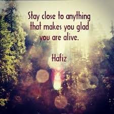 Hafiz Quotes Best Stay Close To Anything That Makes You Glad You Are Alive Hafiz