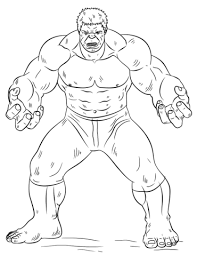 Incredible Hulk Coloring Pages Hulk Coloring Page Free Printable