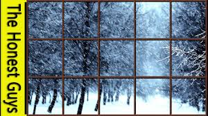 Animated Snow Scenes Winter Window Snow Scene Storm With Wind Fireplace Sounds