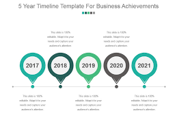 Year Timeline Template 5 Year Timeline Template For Business Achievements Sample Of Ppt Slide04