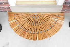 diy wooden door mat