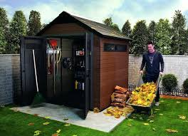 plastic composite outdoor storage shed house for backyard the best sheds your