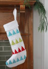 Quilt Inspiration: Free pattern day! Christmas stockings & Quilted Christmas Stocking by Ellen Baker, free paper piecing templates at  The Long Thread Adamdwight.com