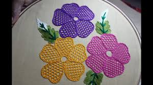 Meti Cloth Designs Hand Embroidery Designs Net Stitch Design For Cushion Cover Stitch And Flower 157