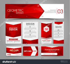 design flyers banners brochures cards red stock vector 380797855 design of flyers banners brochures and cards red polygonal elements corporate identity
