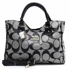 Coach Legacy In Signature Large Grey Satchels ACB+Grey Totes ANC+Grey  Wallets AYA+Grey Wallets BLK