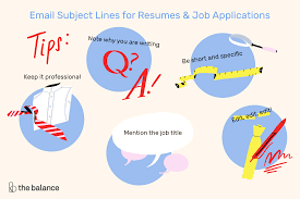 Email Resumes Email Subject Lines For Resumes And Job Applications