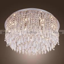 flush mount crystal chandelier sparkling show flush crystal