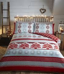 portfolio aspen flannelette cotton duvet cover set red superking to enlarge