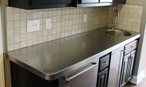 Cleaning Stainless Steel Countertops Stainless Steel Countertop Edging Newcountertop