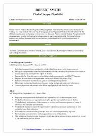 Resume For Clerical Position Clerical Resume Samples Qwikresume