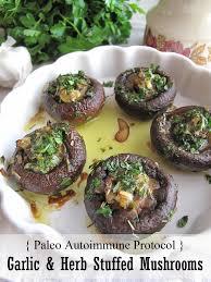 aip garlic herb stuffed mushrooms french paleo recipe