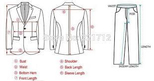 Measurements Mens Suits Chart Free Shipping Slim Custom Fit Tuxedo Bridegroon Men Business Dress Blazer Suits Fashion Suit Blazer Xs 3xl 5 Colors Jacket Pants