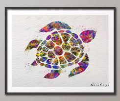 diy original watercolor sea turtle canvas painting pop wall art poster print pictures living room home on turtle wall art painting with diy original watercolor sea turtle canvas painting pop wall art
