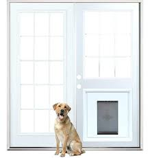 doors with built in dog door so much nicer than sliding glass doors patio french back