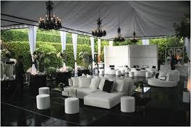 outdoor wedding furniture. beautiful white tent lounge furniture black chandeliers make bold statement outdoor wedding