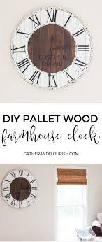diy pallet wood farmhouse clock