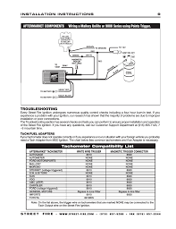troubleshooting, tachometer compatibility list msd 5520 street Mallory Unilite Wiring Schematic troubleshooting, tachometer compatibility list msd 5520 street fire ignition control installation user manual page 9 12 mallory unilite wiring diagram