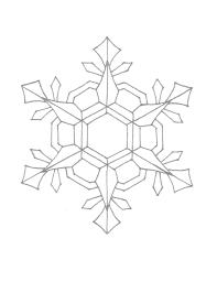 Snowflake Coloring Book With Snowflake Mandala To Color Coloring
