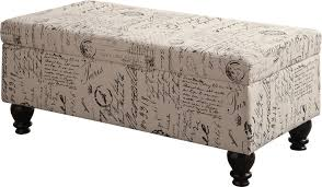 French Ottoman norah french script pattern storage ottoman 3484 by guidejewelry.us