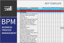 business process template business process management bpm rfi rfp template bpi the
