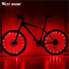 WEST BIKING Waterproof 18 <b>LED Mountain Bike</b> Bicycle Wheel ...